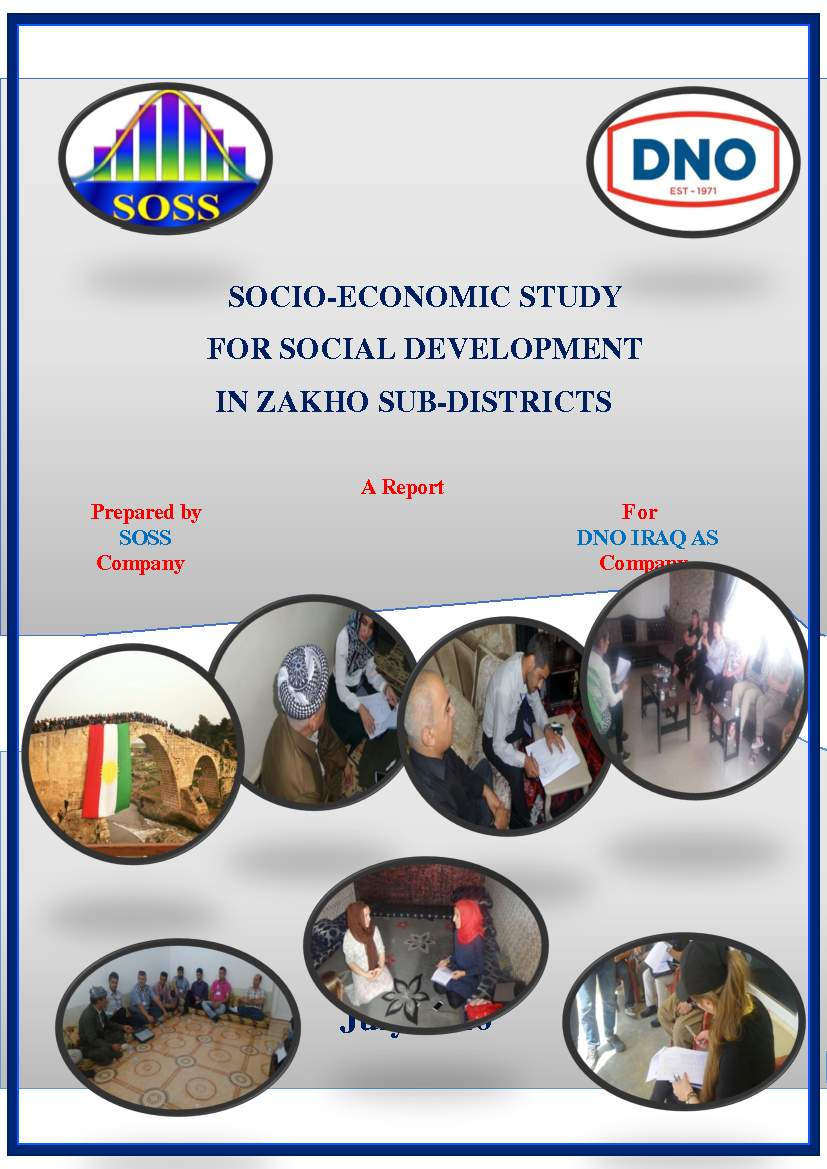 Execution of socio-economic study for social development in Zakho sub-districts submitted to DNO Company for oil and gas.